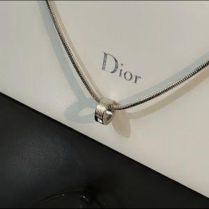✨Signed Christian Dior Silvertone Pendant Necklace